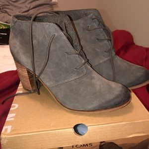 TOMS Olive Green Booties